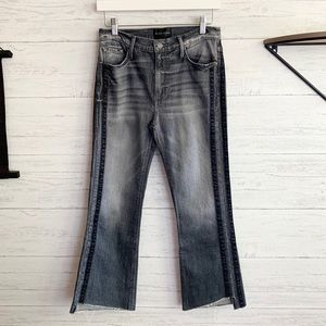 Black Orchid Cindy Slant Fray Jeans